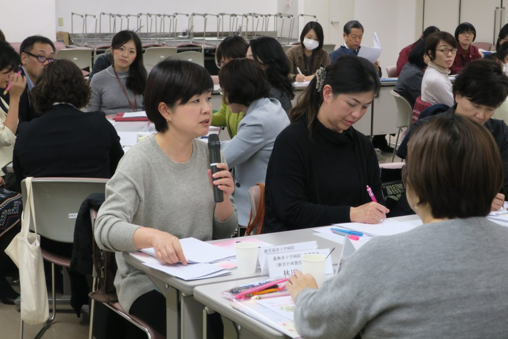 20191226_①外部施設看護部教育担当者による意見発表の様子 AP川嶋隆廣